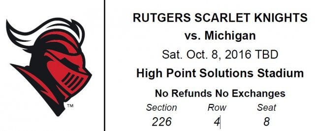 Michigan vs. Rutgers Football